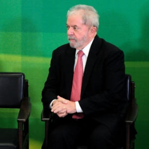 O ex-presidente Lula no Palácio do Planalto