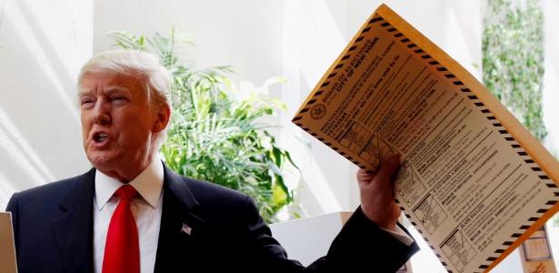 Donald Trump vota em primária de Nova York - Andrew Kelly/Reuters