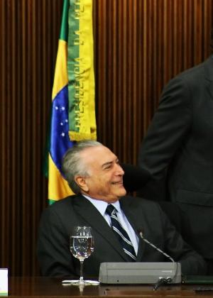 O presidente interino, Michel Temer (PMDB)
