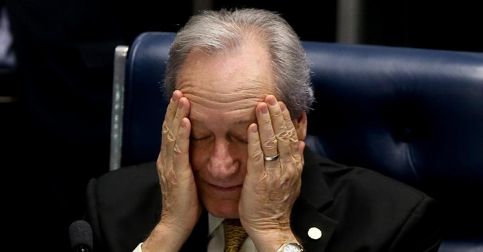 27.ago.2016 - Presidente do STF (Supremo Tribunal Federal), Ricardo Lewandowski comanda há três dias o julgamento do processo de impeachment da presidente Dilma Rousseff