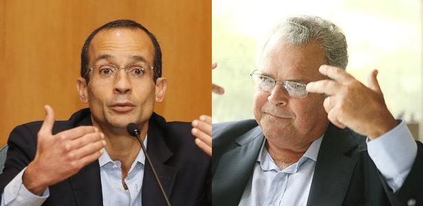 Marcelo Odebrecht, ex-presidente e herdeiro do grupo empresarial Odebrecht, e seu pai, Emílio, presidente do Conselho de Administração do conglomerado