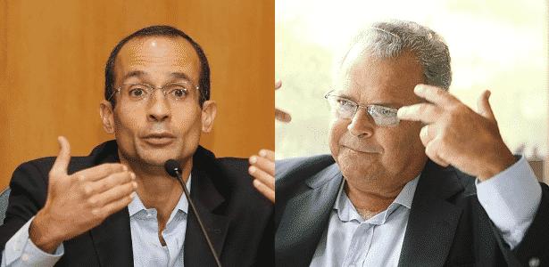 Marcelo Odebrecht, ex-presidente e herdeiro do grupo empresarial Odebrecht, e seu pai, Emílio, presidente do Conselho de Administração do conglomerado - Arte/UOL