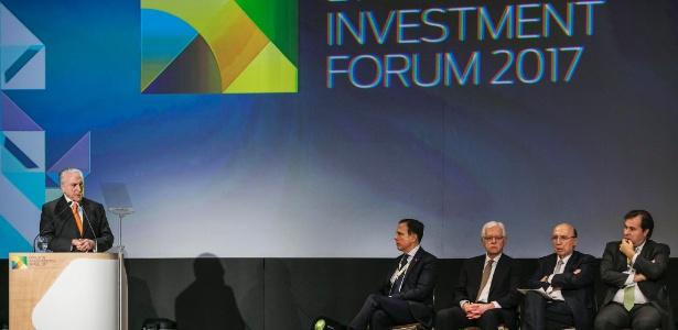 Última participação de Temer em eventos empresariais fora de Brasília foi em 30 de maio, no Fórum de Investimentos Brasil 2017