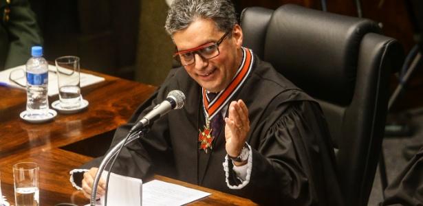 25.ago.2017 - O desembargador federal Fabio Prieto é empossado juiz titular do Tribunal Regional Eleitoral de São Paulo - GABRIELA BILÓ/ESTADÃO CONTEÚDO