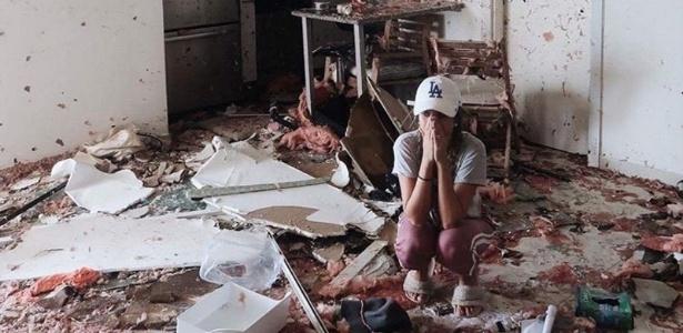 Brasileira relata ter perdido tudo após passagem do furacão Irma em São Martinho