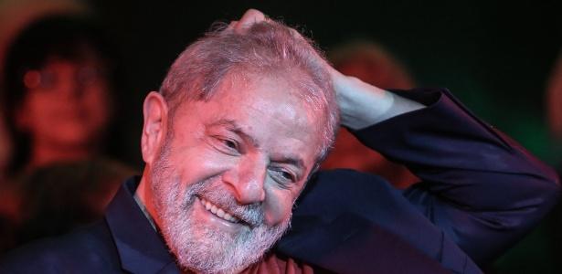 O ex-presidente Lula durante evento em São Paulo no dia 18