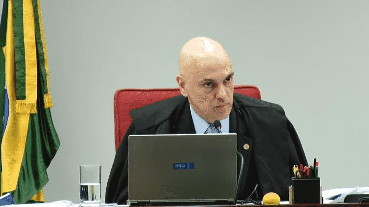 O ministro Alexandre de Moraes votou contra a perda de eficácia das decisões de retirada de notícias falsas do ar - Kleyton Amorim/UOL