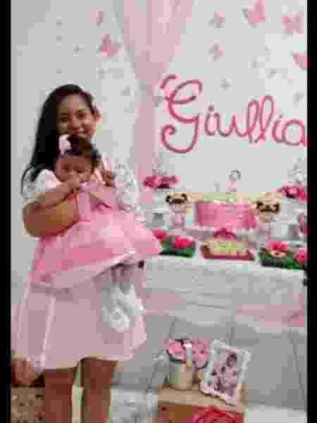 Gilza só soube que a filha Maria Giulia era portadora da síndrome congênita do zika quando a menina já tinha oito meses de vida; criança morreu em maio de 2018 - Arquivo Pessoal - Arquivo Pessoal