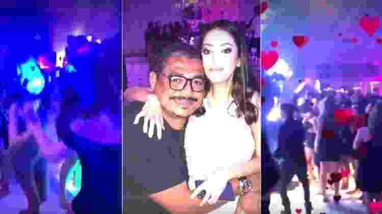 Vampeta e a filha Giovanna, que passou por um transplante de coração no EUA - Reprodução TV Globo