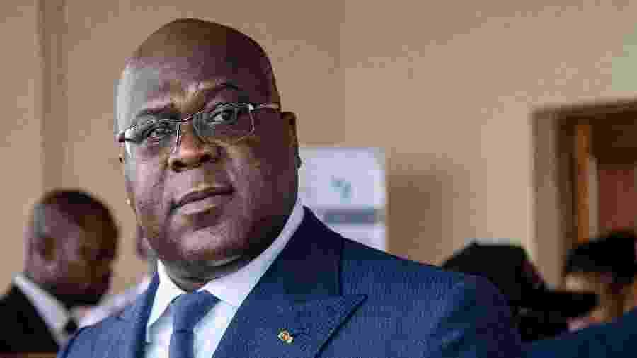 Felix Tshisekedi, presidente da República Democrática do Congo, não estava no voo - Tchandrou Nitanga/AFP