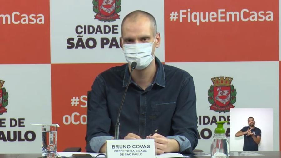 O prefeito de São Paulo, Bruno Covas (PSDB) - Reprodução