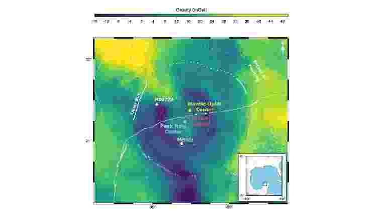 Região da Mérida, no Golfo do México, onde o asteroide caiu - Divulgação/Imperial College of London - Divulgação/Imperial College of London