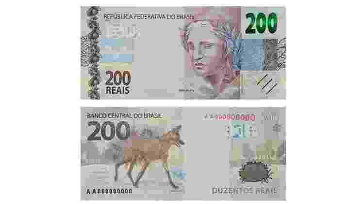 2ª família: nota de R$ 200 - Reprodução/Banco Central - Reprodução/Banco Central