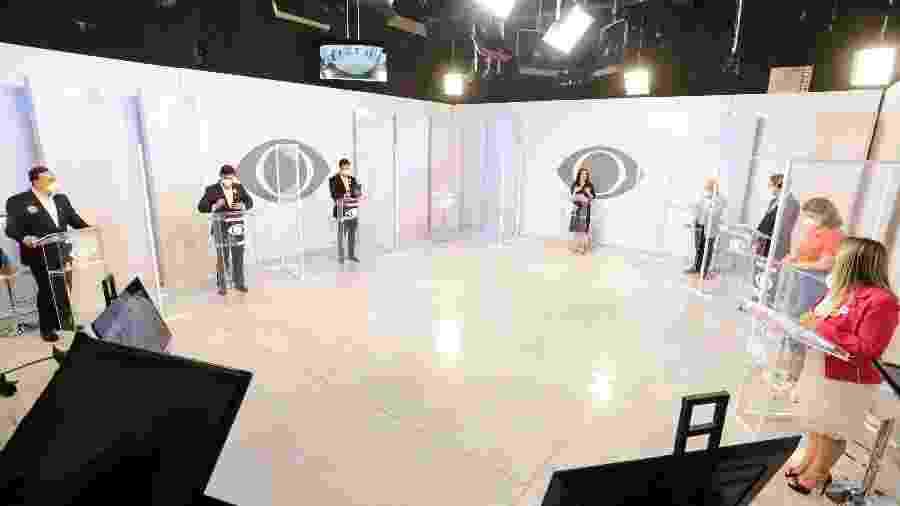 1º.out.2020 - Candidatos debatem em primeiro evento em Curitiba promovido pela Band - Rodrigo Felix Leal/Band Paraná