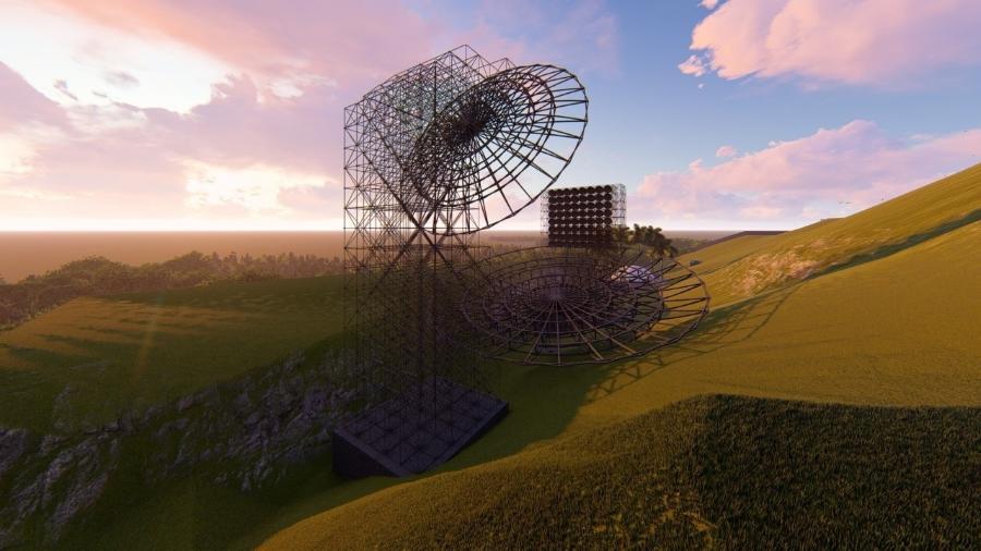 Projeto do radiotelescópio Bingo - Divulgação