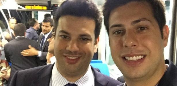 O deputado federal Leonardo Picciani (PMDB-RJ) postou foto ao lado do irmão, Rafael Picciani, durante inauguração do Museu do Amanhã, no Rio