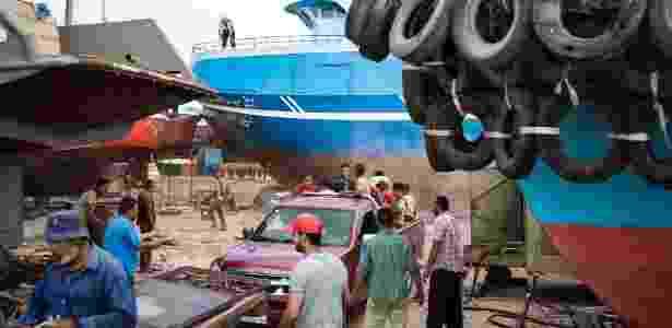 8.jun.2016 - Marina em Burg Migheizil, no Egito, de onde partem barcos que tentam cruzar o Mediterrâneo em direção à Europa - David Degner/The New York Times - David Degner/The New York Times