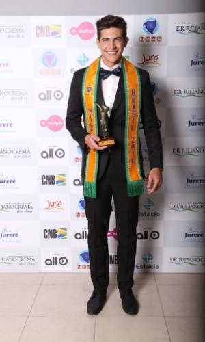 24.jun.2016 - Mister São Paulo, Carlos Franco, venceu o concurso Mister Brasil 2016, que aconteceu na noite dessa sexta-feira (24) em Jurerê Internacional, em Florianópolis (SC)
