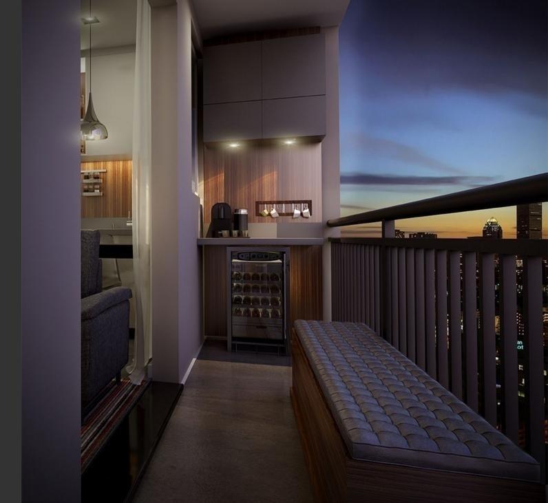 Apartamento vem com varanda