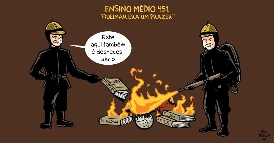 27.set.2016 - Será que até a história vai para a fogueira da educação feita por Temer?