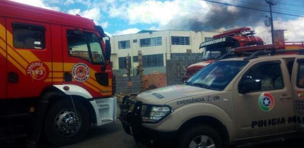 Detentos colocaram fogo no Presídio Regional de Lages, na região serrana de Santa Catarina