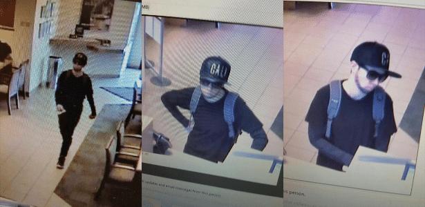 Mulher desenha barba para se disfarçar de homem durante assalto a banco