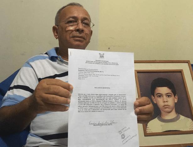 Aposentado Francisco Luiz da Silva ainda procura pelo filho Guiherme Ely