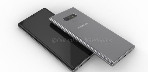 Esta é a renderização mais provável de como será o novo Galaxy Note 9