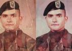 Internautas se mobilizam para restaurar foto danificada de militar americano a pedido da filha (Foto: Arquivo pessoal)