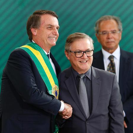 Bolsonaro empossa Ricardo Vélez Rodríguez como ministro da Educação - Dida Sampaio -2.jan.2019/Estadão Conteúdo