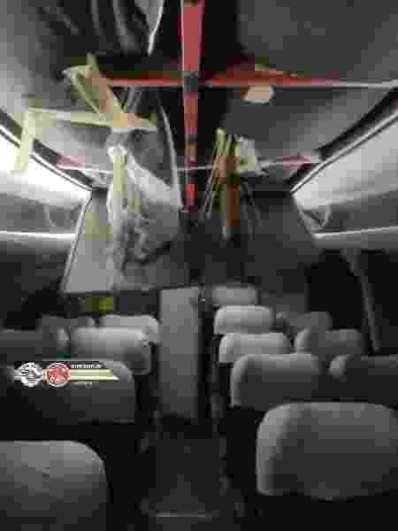 Estrutura que desabou na marginal Tietê atravessou teto de um ônibus que estava no local  - Corpo de Bombeiros de São Paulo - Corpo de Bombeiros de São Paulo