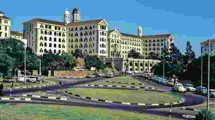 O hospital Groote Schuur em Cape Town, na África do Sul, em 1969 - Getty Images