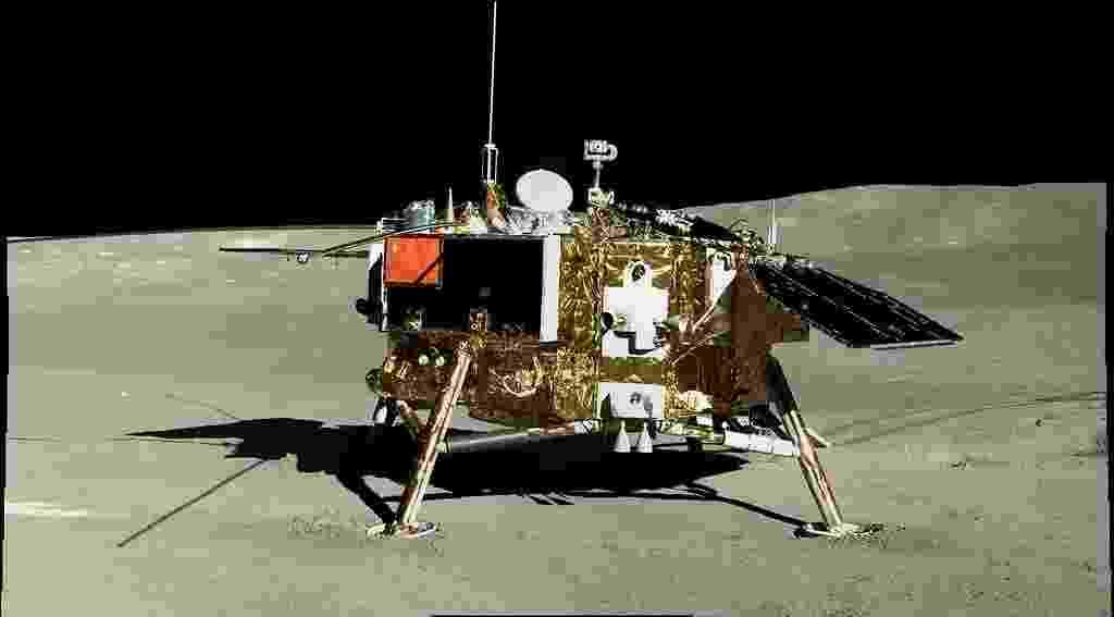 O Chang'e 4 pousou na cratera Von Karman da lua no início de 2019 - Divulgação/Chang'e 4