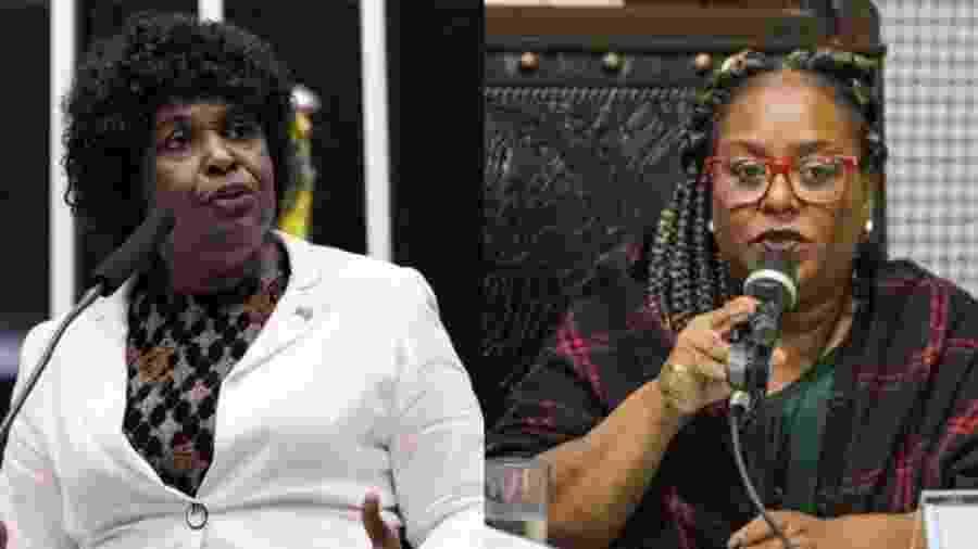 Deputadas Benedita da Silva (PT) e Mônica Francisco (PSOL) - Divulgação