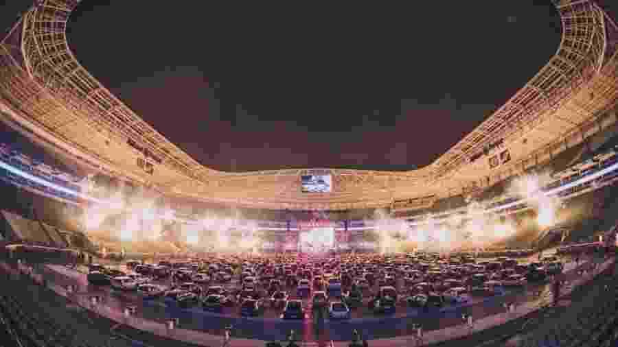 Allianz Parque recebeu 250 carros para show do Jota Quest - Divulgação/Allianz Parque