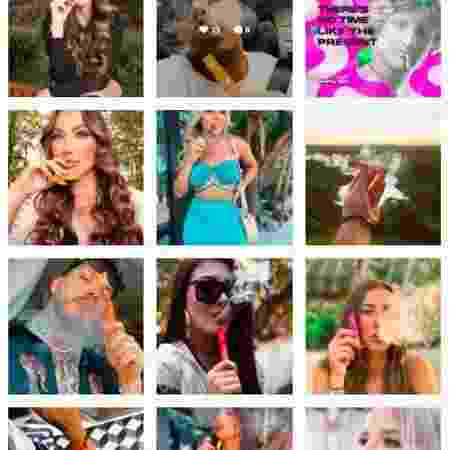 Fotos de cigarro eletrônico compartilhadas nas redes sociais - Reprodução/Instagram - Reprodução/Instagram