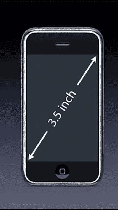 O primeiro iPhone tinha apenas 3,5 polegadas - Reprodução - Reprodução
