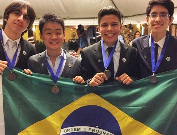 Da esq. à dir.: Lucas Magalhães, Michael Sato, Arthur Feitosa e Gerardo Albino. - José Carlos Pelielo/Divulgação