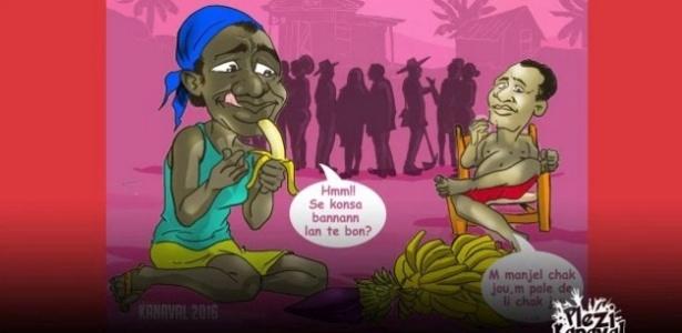 """Imagem do site """"PleziKanaval"""", que lançou a música de """"Sweet Micky"""", nome artístico do atual presidente do Haiti, Michel Martelly"""
