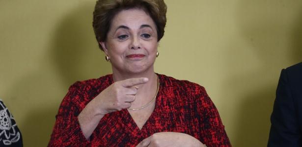 A presidente Dilma Rousseff, durante cerimônia no Planalto