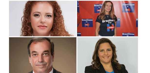 Renata Castro Alves, Margareth Shepard, José Peixoto e Cláudia Mariaca (da esq. para dir.) são candidatos nos EUA