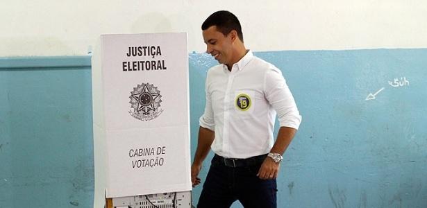 Rogério Lins (PTN), prefeito eleito de Osasco, durante o 2º turno das eleições de 2016
