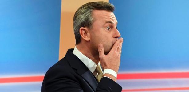 O candidato da extrema-direita Norber Hofer foi derrotado nas eleições de domingo (4)