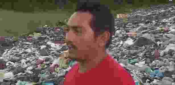 Catador de material reciclável encontrou bebê morto em um lixão no interior da Paraíba - Reprodução/TV Globo