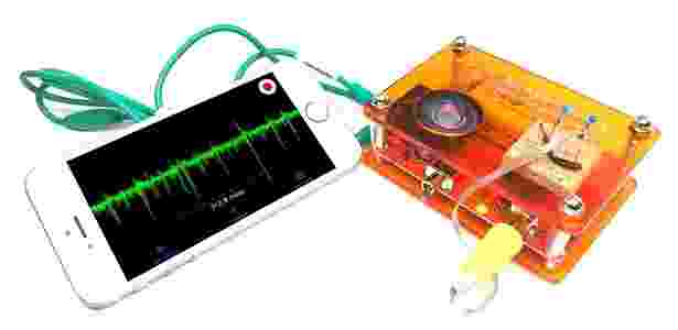 Spikerbox, máquina da Backyard Brains para experimentos neurológicos - Reprodução
