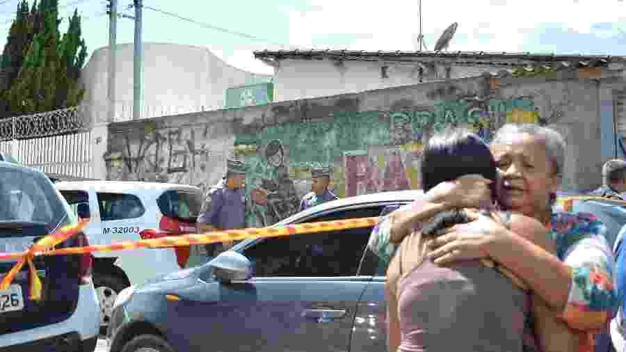 A Escola Estadual Raul Brasil, em Suzano (SP), foi isolada após massacre que deixou dez mortos - Bruna Nascimento/Myphoto Press/ Estadão Conteúdo