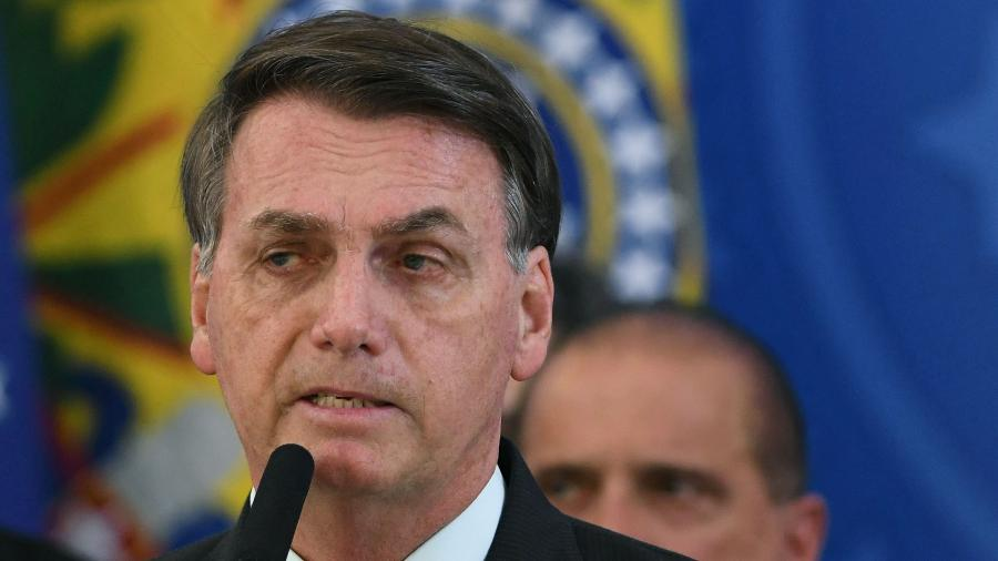 24.abr.2020 - O presidente Jair Bolsonaro (sem partido) - Edu Andrade/Fatopress/Estadão Conteúdo