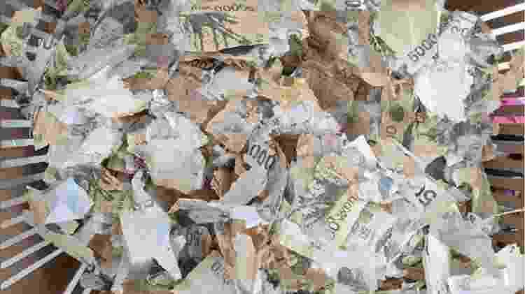 Cédulas foram colocadas em máquina de lavar na Coreia do Sul  - Bank of Korea/Divulgação - Bank of Korea/Divulgação