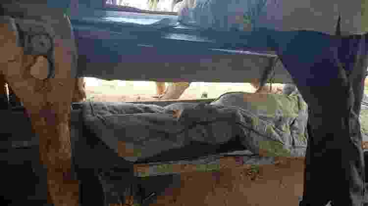 'Beliche' precário usado por trabalhadores resgatados da escravidão em carvoaria em Minas Gerais - AFT - AFT