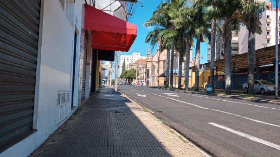 Rua de Araraquara (SP) ficaram vazias durante lockdown decretado em fevereiro - Reprodução